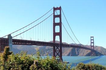 Westküste: Die Golden Gate Bridge in San Francisco
