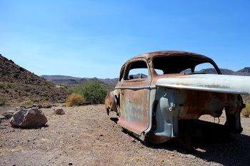 Für Touristen wurden auch einige hübsche Fotomotive entlang der Route 66 aufgestellt.